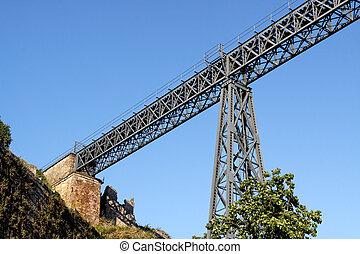 pont, vieux, détails, fer