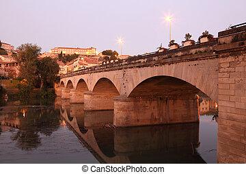 pont, vieux, sur, france, beziers, rivière, orbe