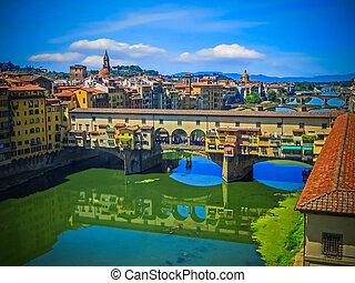 ponte vecchio, italie, florence, -