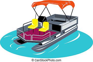 ponton, bateau