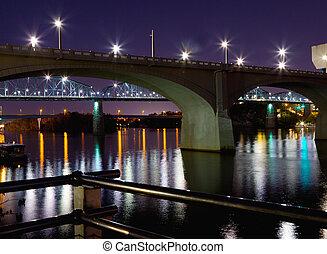 ponts, nuit