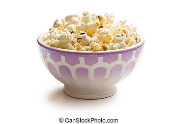 pop-corn, céramique, bol