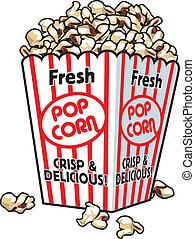 pop-corn, frais