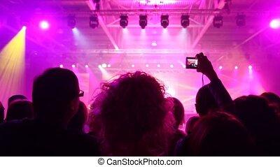 populaire, regard, concert musique, gens