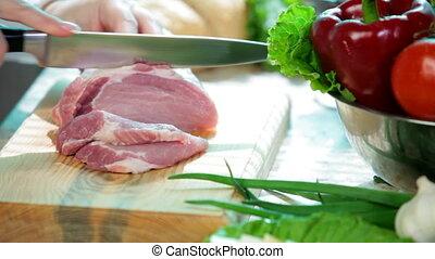 porc, viande coupe