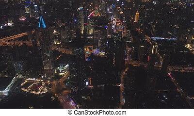 porcelaine, huangpu, nuit, horizon, ville, shanghai