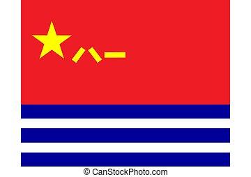 porcelaine, militaire, (pla, libération, gens, marine, chinois, armée, ou, plan), drapeau