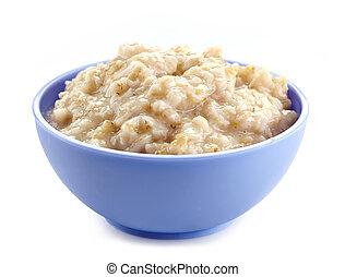 porridge, bol, avoine