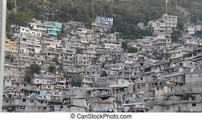 port-au-prince, coteau, étendu, voisinage, haïti