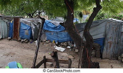 port-au-prince, maisons, tôle, haïti, tarp