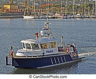 port, firefighting, police, vaisseau