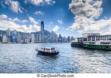 port, hong kong, victoria