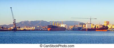 port, industriel, malaga