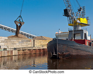 port, scène, hollandais