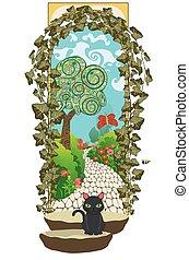 portail, jardin, top secret