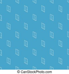 porte bleue, modèle, seamless, vecteur, glissement