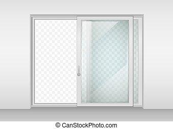 porte, contemporain, glissement