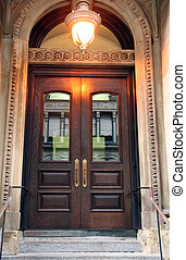 porte, entrée, fantaisie
