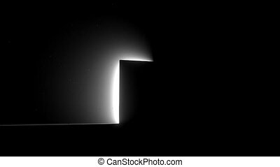 porte, lumière, clair, épiphanie, vie mort, nouveau, ouvert, occasion