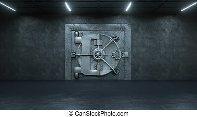 porte, ouverture, argent, lot, voûte, banque