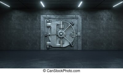 porte, ouverture, fond, voûte, blanc, banque