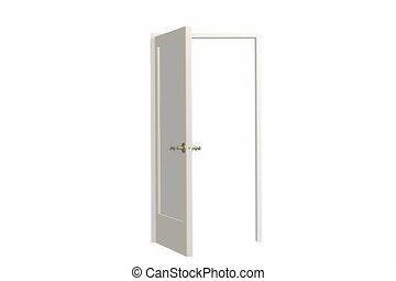 porte, ouverture