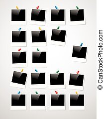 porte-photo, polaroid, fond