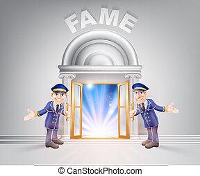 porte, renommée, portiers