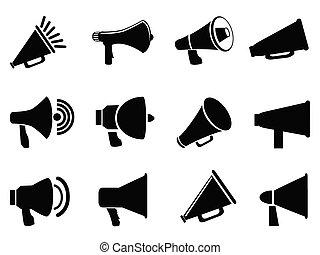 porte voix, icônes