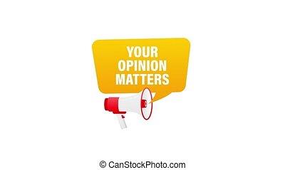 porte voix, mouvement, graphics., opinion, ton, tenant main, matters.