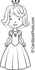 porter, peu, coloration, girl, déguisement, book:, princesse
