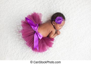 porter, pourpre, nouveau-né, girl, tutu
