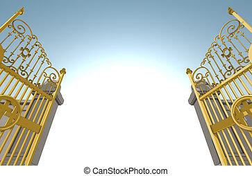 portes, cieux, nacré