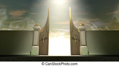 portes, cieux, ouvert