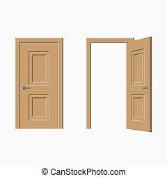 portes, open., fermé