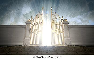 portes, ouverture, cieux