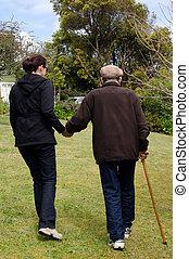 portion, aider, gens âgés