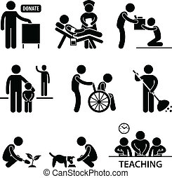portion, donation, charité, volontaire