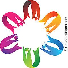 portion, logo, collaboration