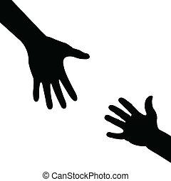 portion, silhouette, main