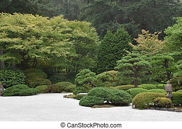 portland, japonaise, orégon, jardin
