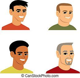 portrait, avatar, dessin animé, illustration