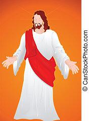portrait, christ, jésus