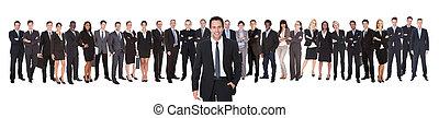 portrait, confiant, équipe, homme affaires