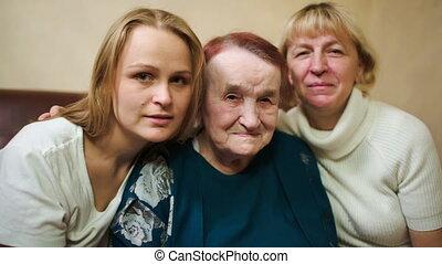 portrait, différent, femmes, âge, trois