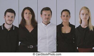 portrait, equipe affaires