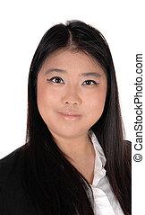 portrait, femme, chinois, image