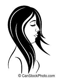 portrait, girl, beauté, figure