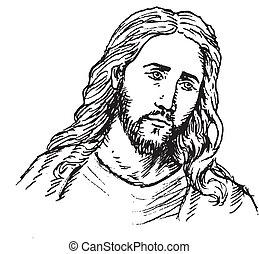 portrait, jésus