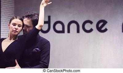 portrait, professionnel, danseurs, tango, danse